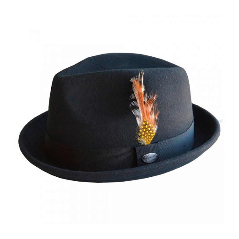 City Sport Hatte Alfredo Fedora Hat Sort