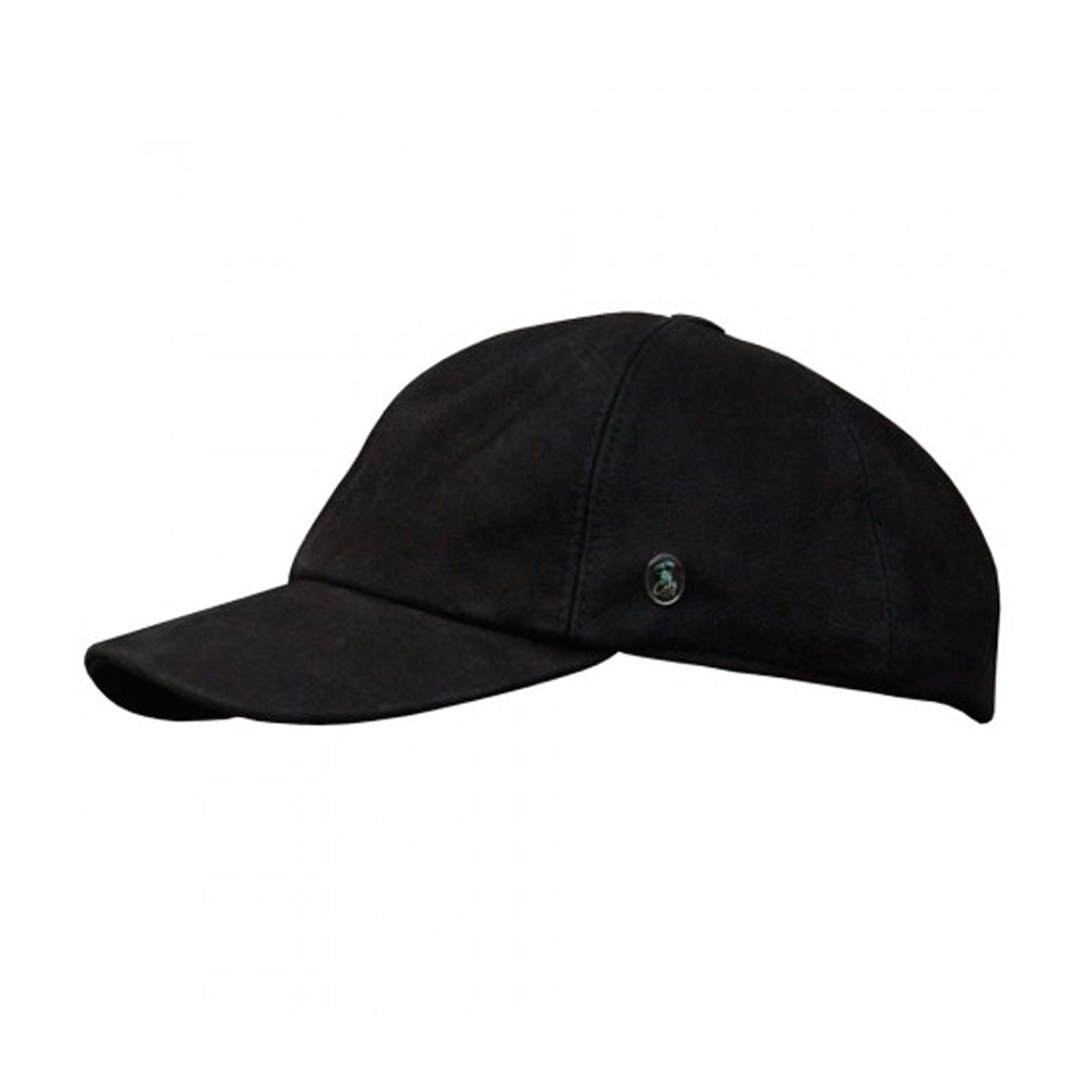 City Sport Dad Cap Adjustable S7029 1006 Black Leather Sort Læder