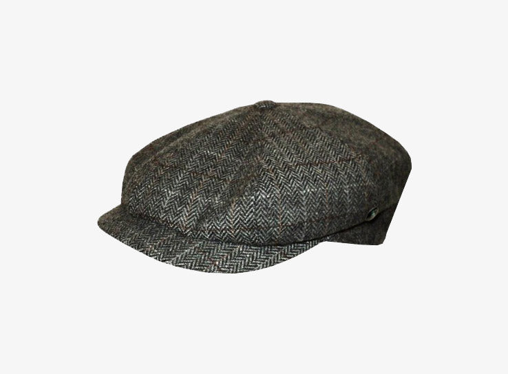 City Sport Eight Piece Sixpence Flat Cap Grey Grå M20 2552