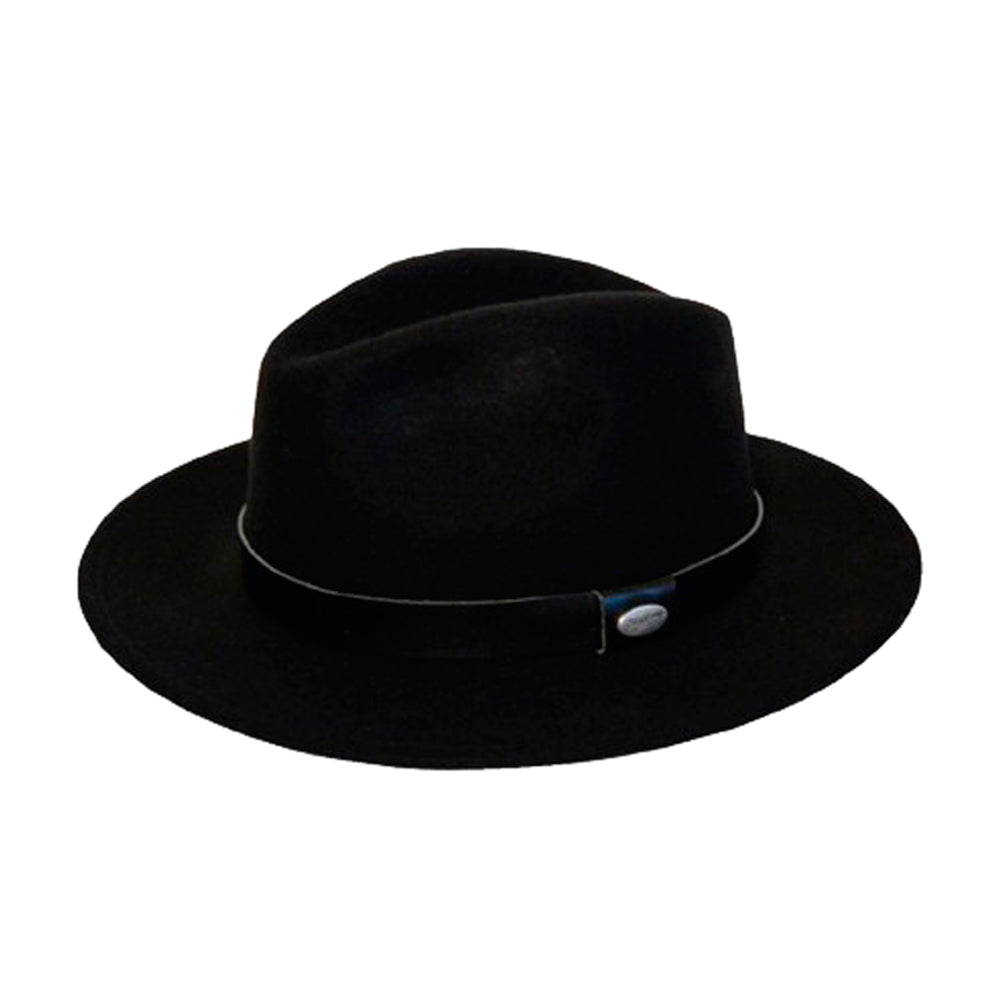 City Sport Hatte Fedora Hat Black Sort