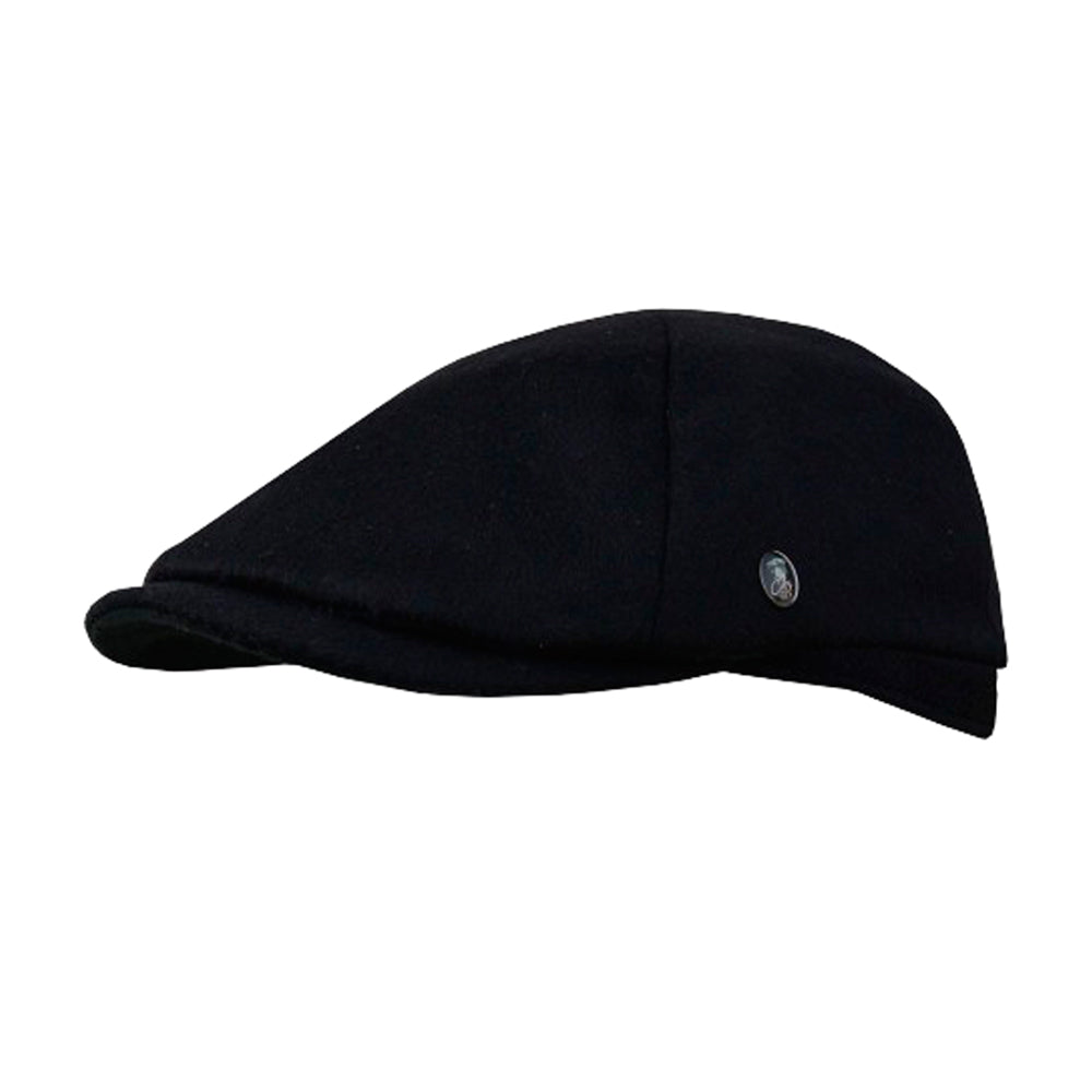 City Sport Sixpence Flat Cap M21 3982 Black Sort