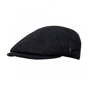 City Sport Sixpence Flat Cap M23 3015 Black Sort