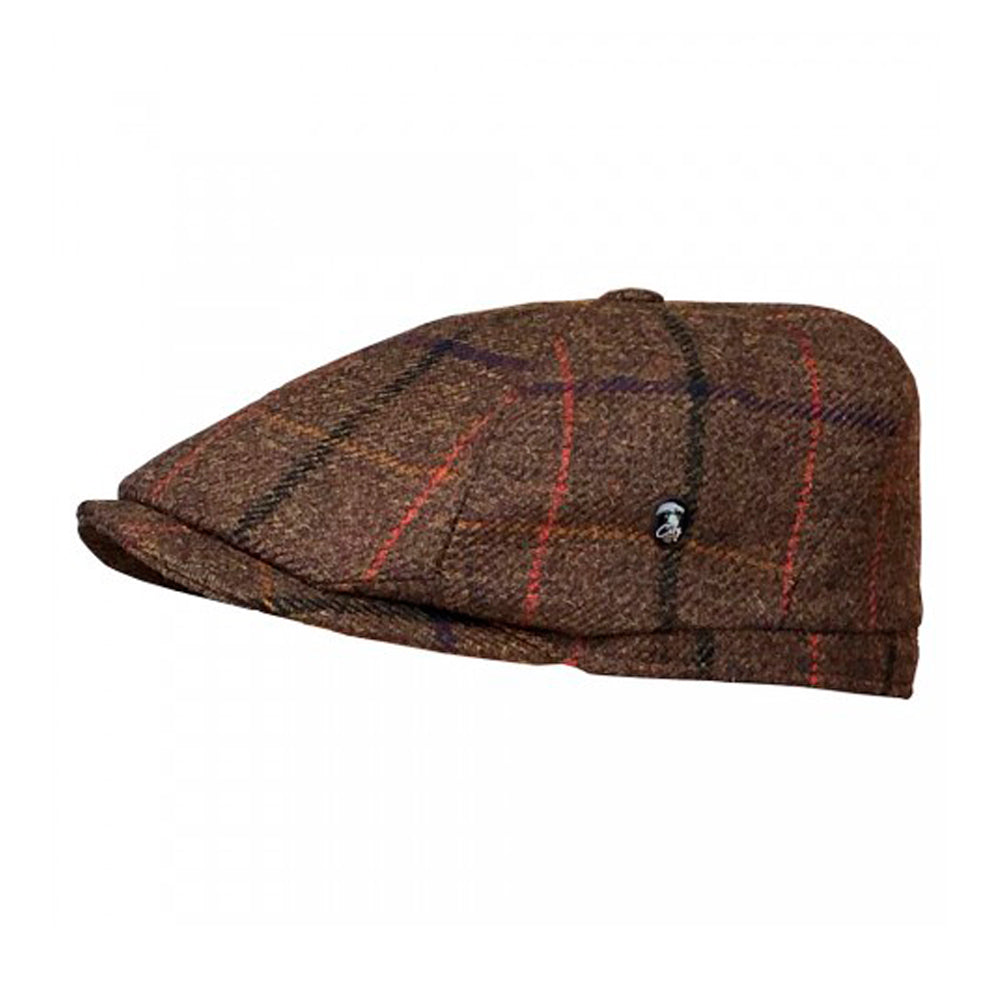 City Sport Sixpence Flat Cap M261 3200 Brown Brun
