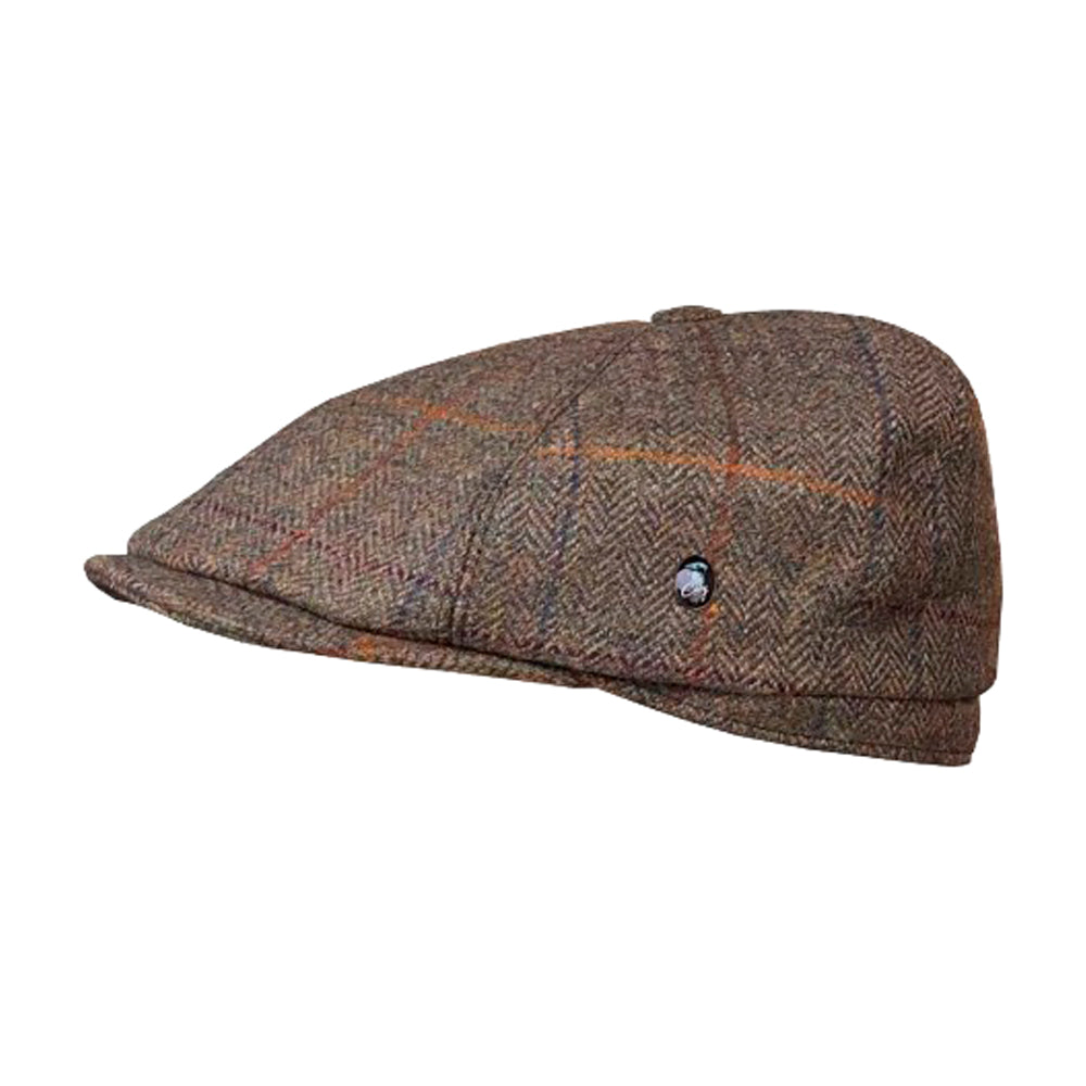 City Sport Sixpence Flat Cap M261 3300 Brown Brun