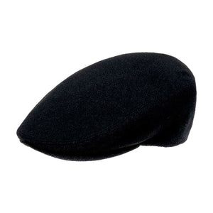 City Sport Cap Sixpence Flat Cap Black Sort