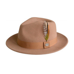 City Sport Martino Fedora Hat Brown Brun