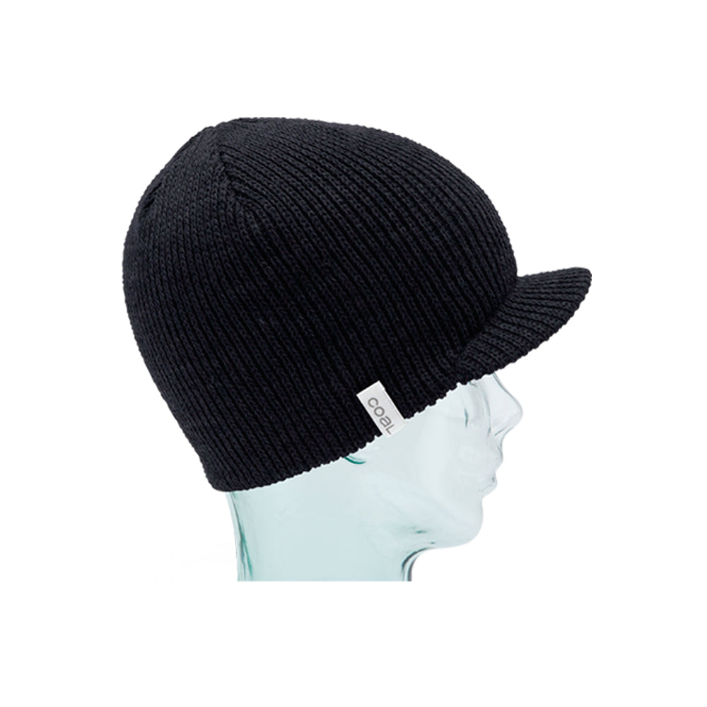 Coal The Basic Brimmed Beanie Strikkede Huer Black Sort