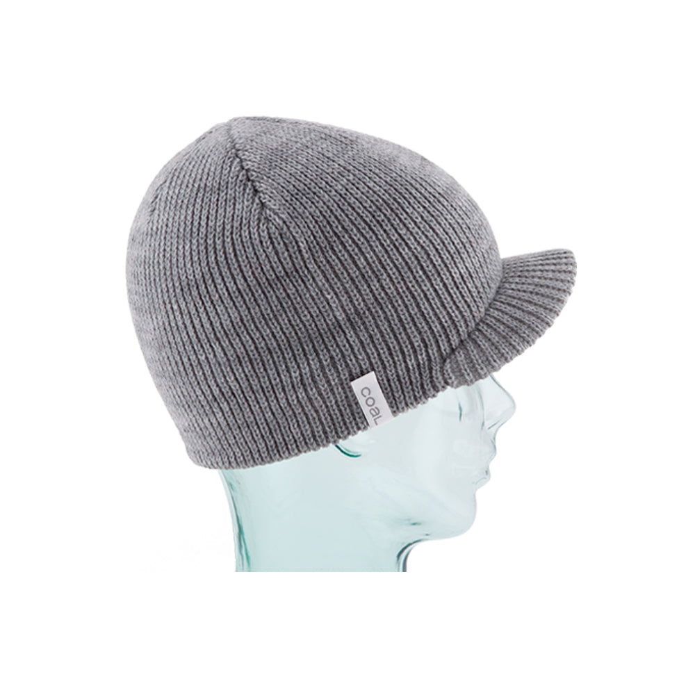Coal The Basic Brimmed Beanie Strikkede Huer Heather Grey Grå