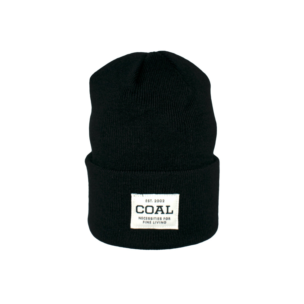 Caol The Uniform Fold Up Beanie Solid Black Sort