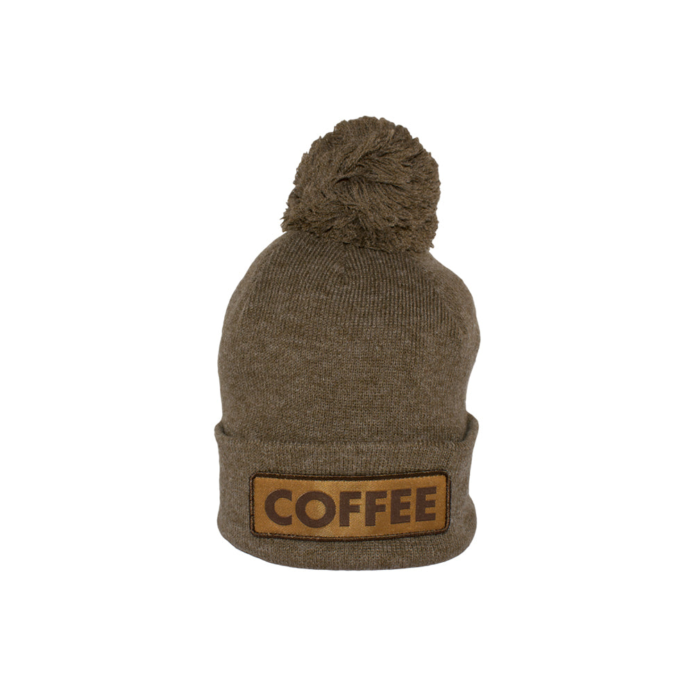 Caol The Vice Coffee Pom Fold Up Beanie Fold Huer Heather Brown Brun