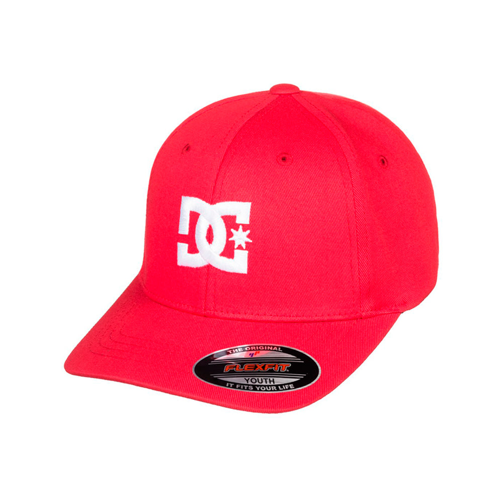 DC Cap Star 2 Youth Child Kids Børn Flexfit Tango Red Rød