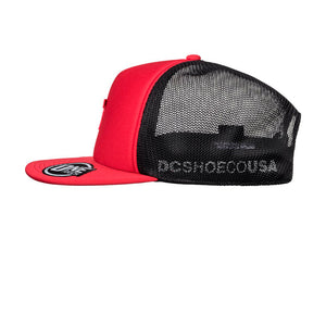 DC Greet Up Trucker Snapback Racing Red Black Rød Sort
