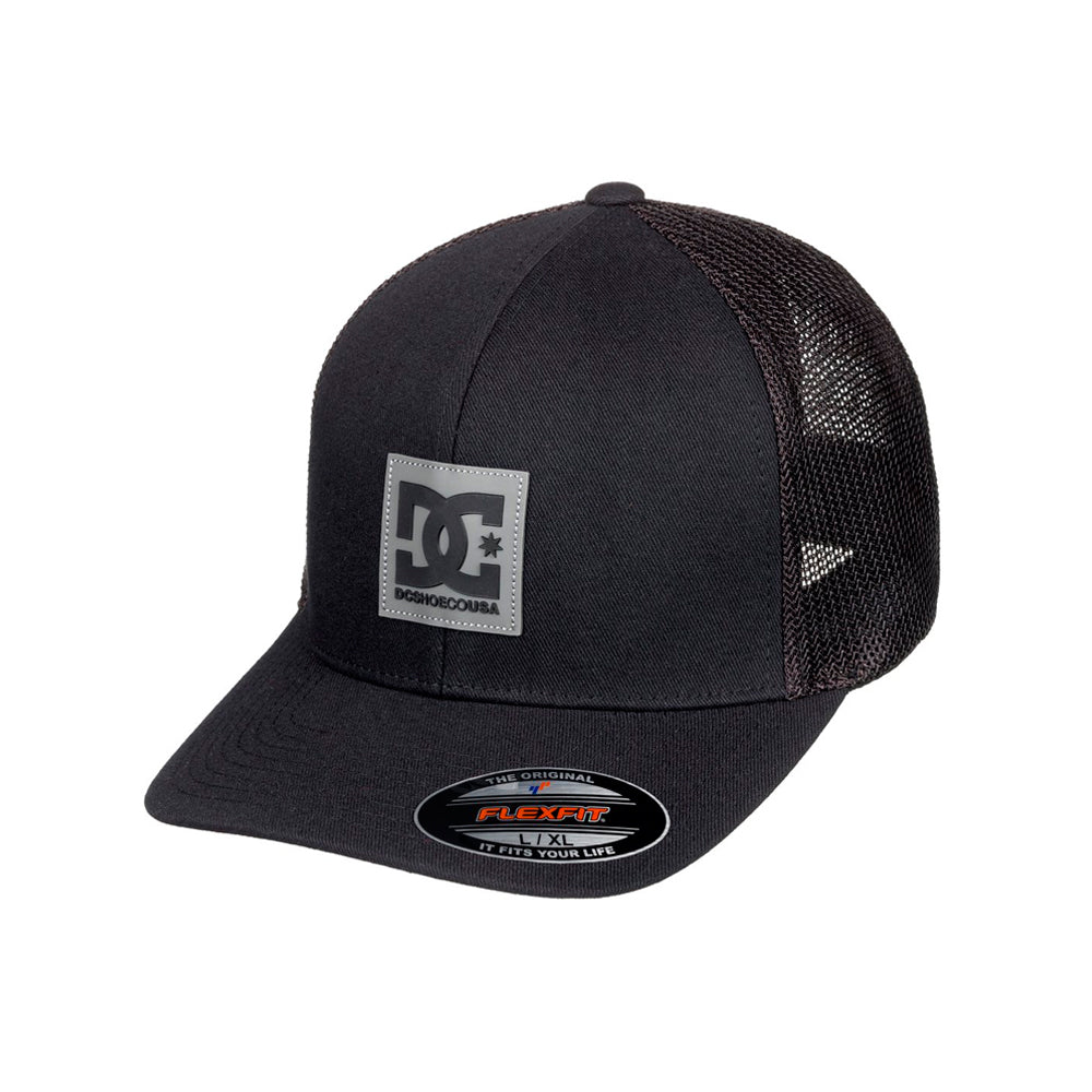 DC Mesher Trucker Flexfit Black Sort