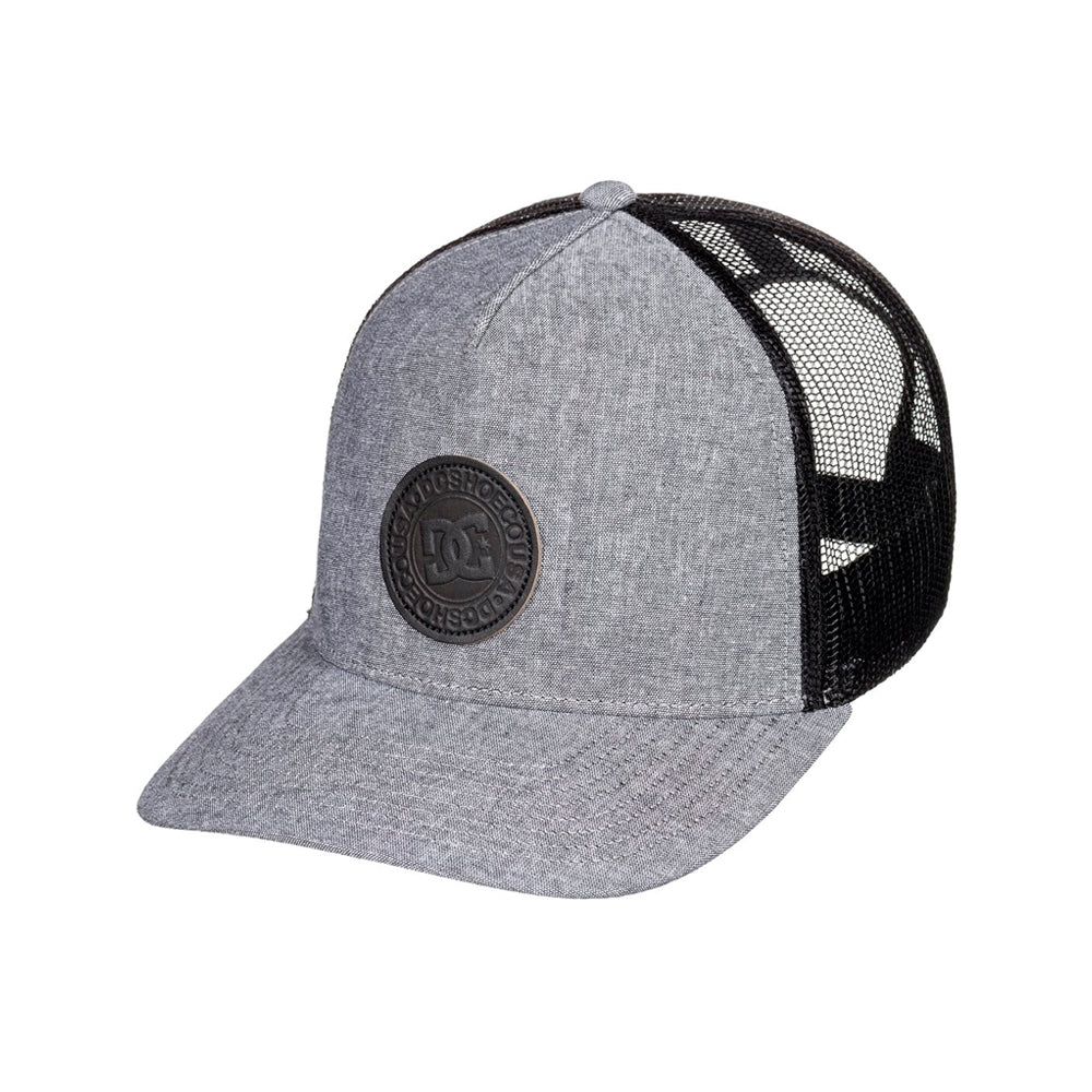 DC Stocktons Trucker Snapback Heather Grey Black Grå Sort