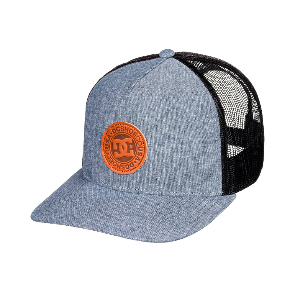 DC Stocktons Trucker Snapback Black Iris Sort Blå
