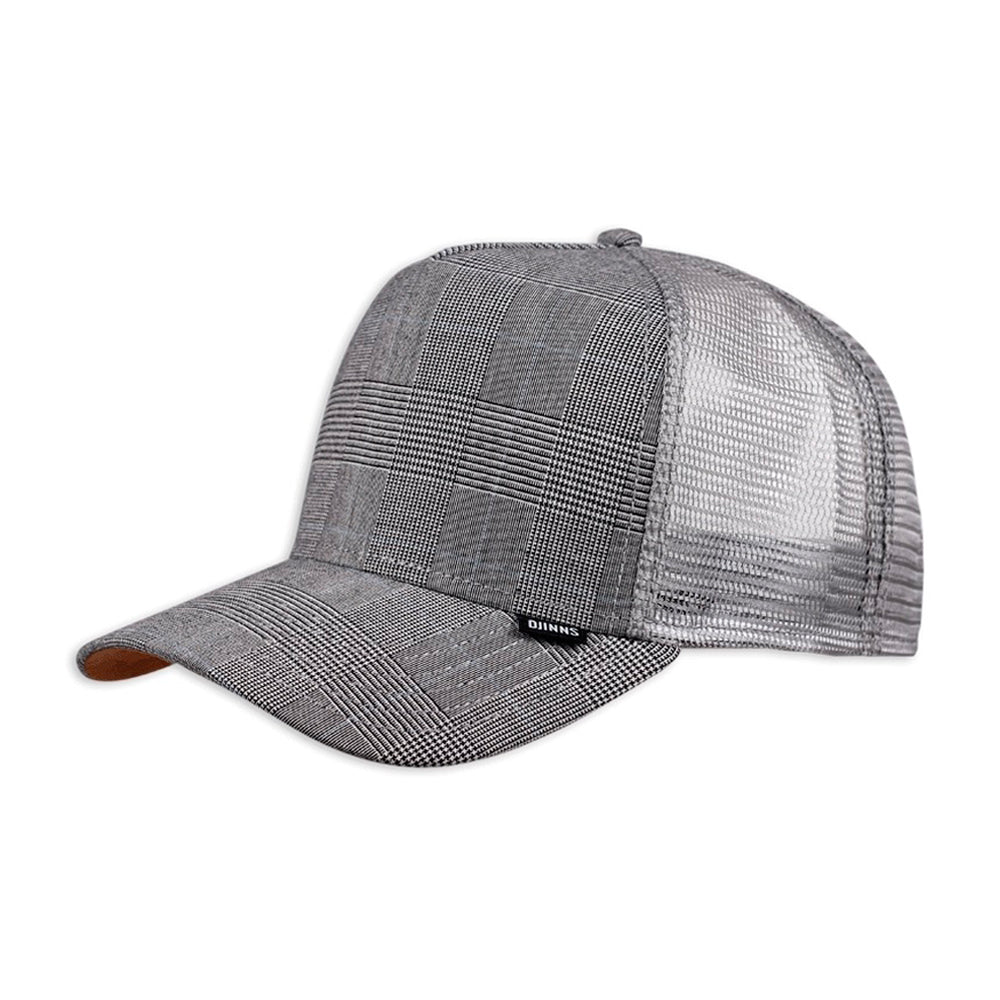 Djinns HFT Glencheck 2.0 Trucker Snapback Light Grey Grå