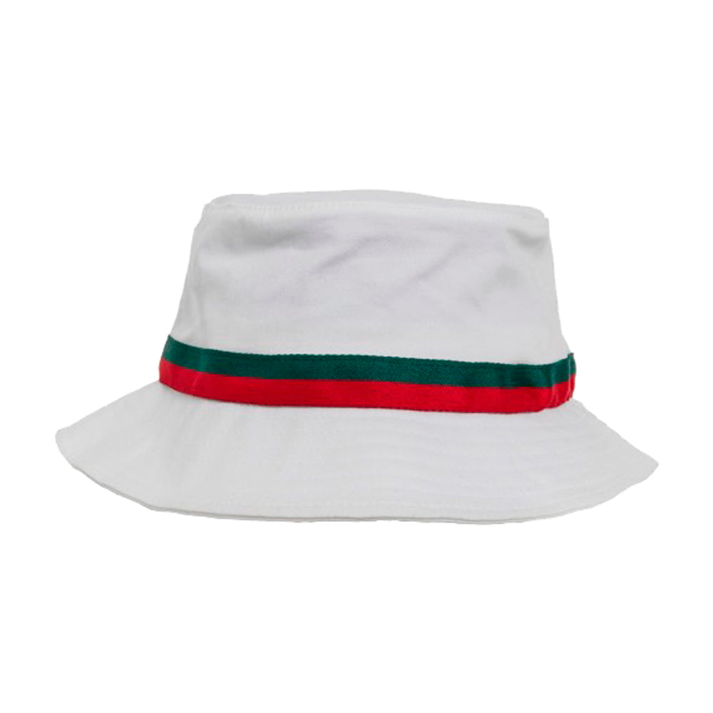 Flexfit Bucket Hat 5003 White Stripe Hvid