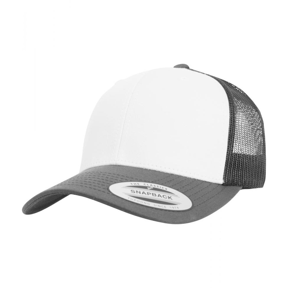 Flexfit Retro Colored Front Trucker Snapback 6606CF D.Grey White MørkeGrå