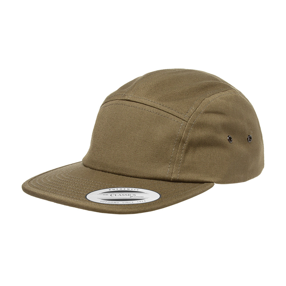 Flexfit Yupoong 5 Panel Justerbar 7005 Olive Grøn
