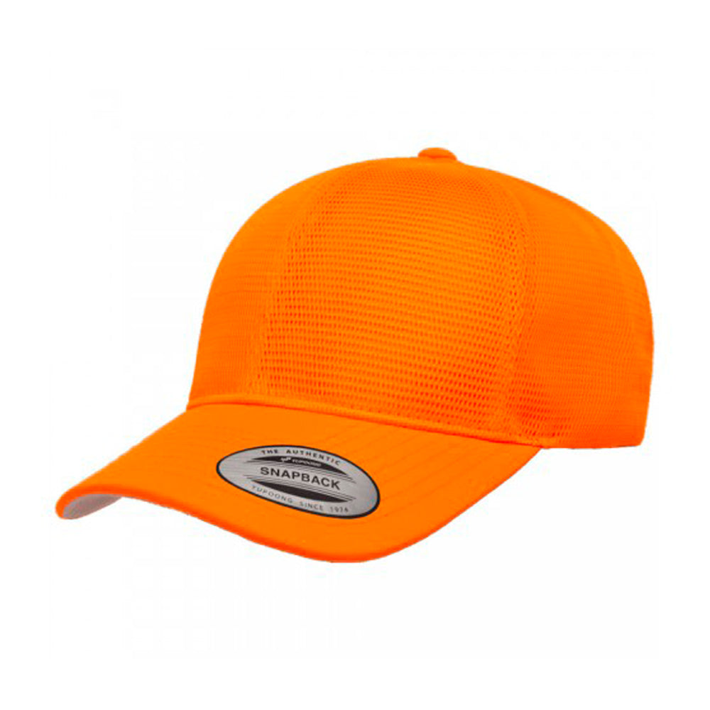 Flexfit Baseball 360 Mesh Snapback US6360 Neon Orange
