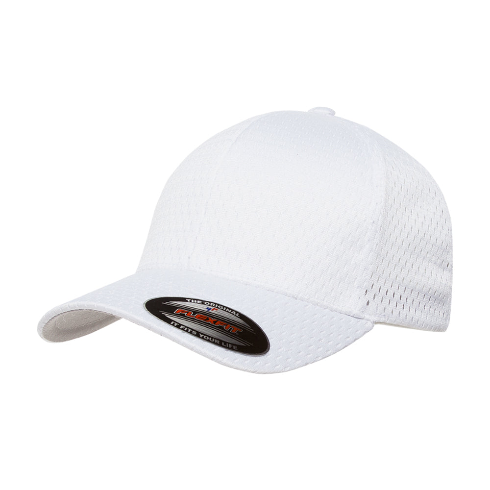 Flexfit Baseball Athletic Flexfit 6777 White Hvid