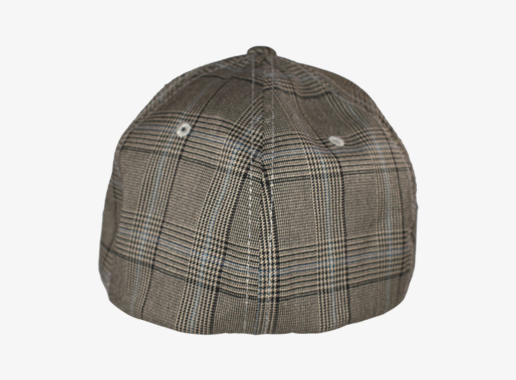 Flexfit Baseball Check Flexfit Brown Khaki Brun