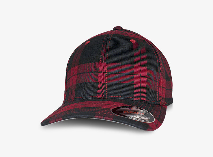 Flexfit Baseball Check Flexfit 6197 Red Rød