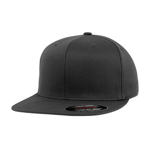 Flexfit Baseball Flat Visor Flexfit Dark Grey Mørkegrå