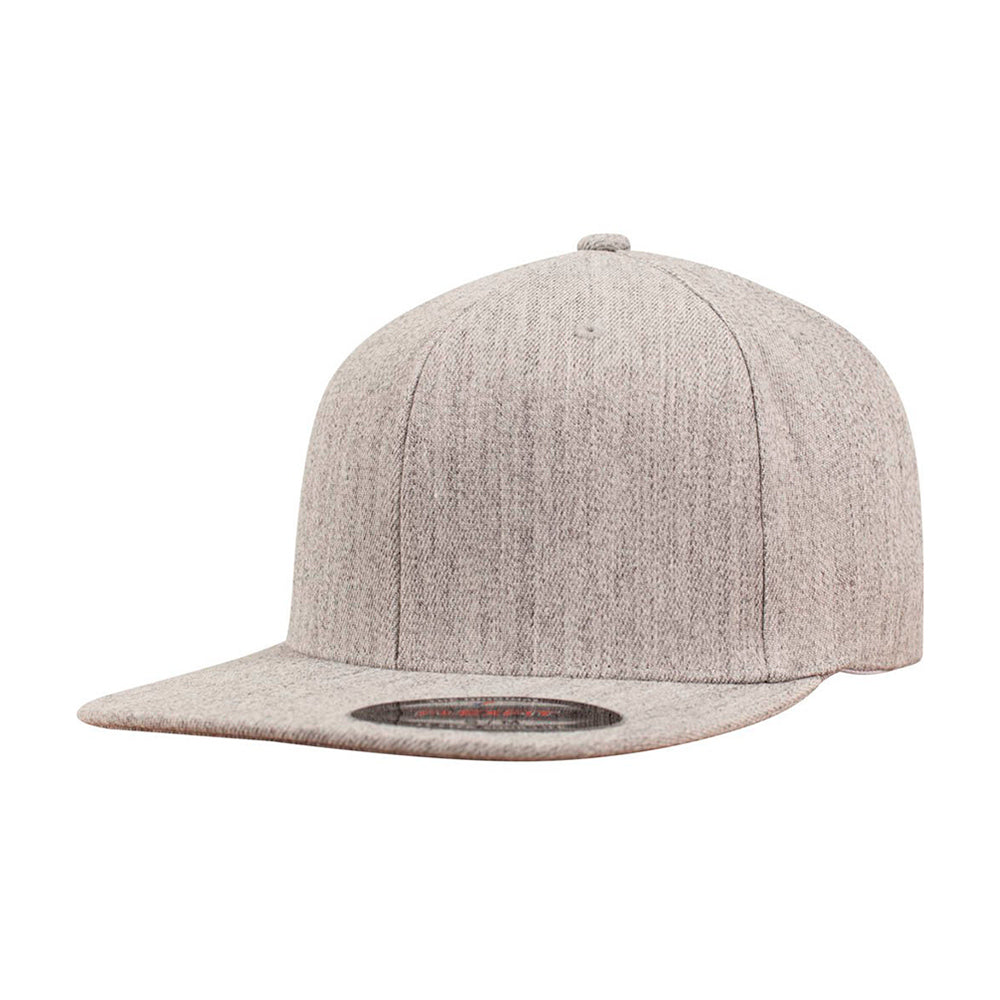 Flexfit Baseball Flat Visor Flexfit Heather Grey Grå