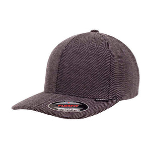 Flexfit Baseball Herringbone Flexfit 6277SP Black Grey Sort Grå