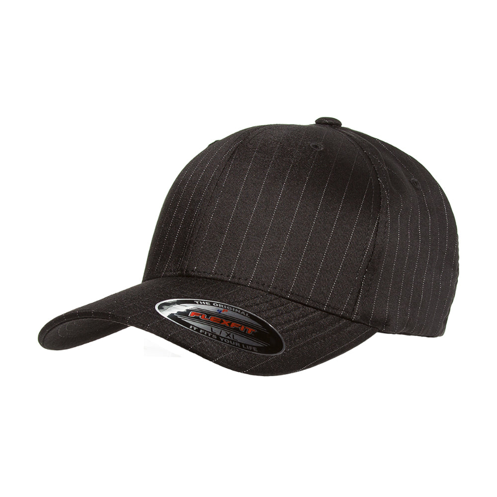 Flexfit Cap Baseball Pinstripe Black Sort