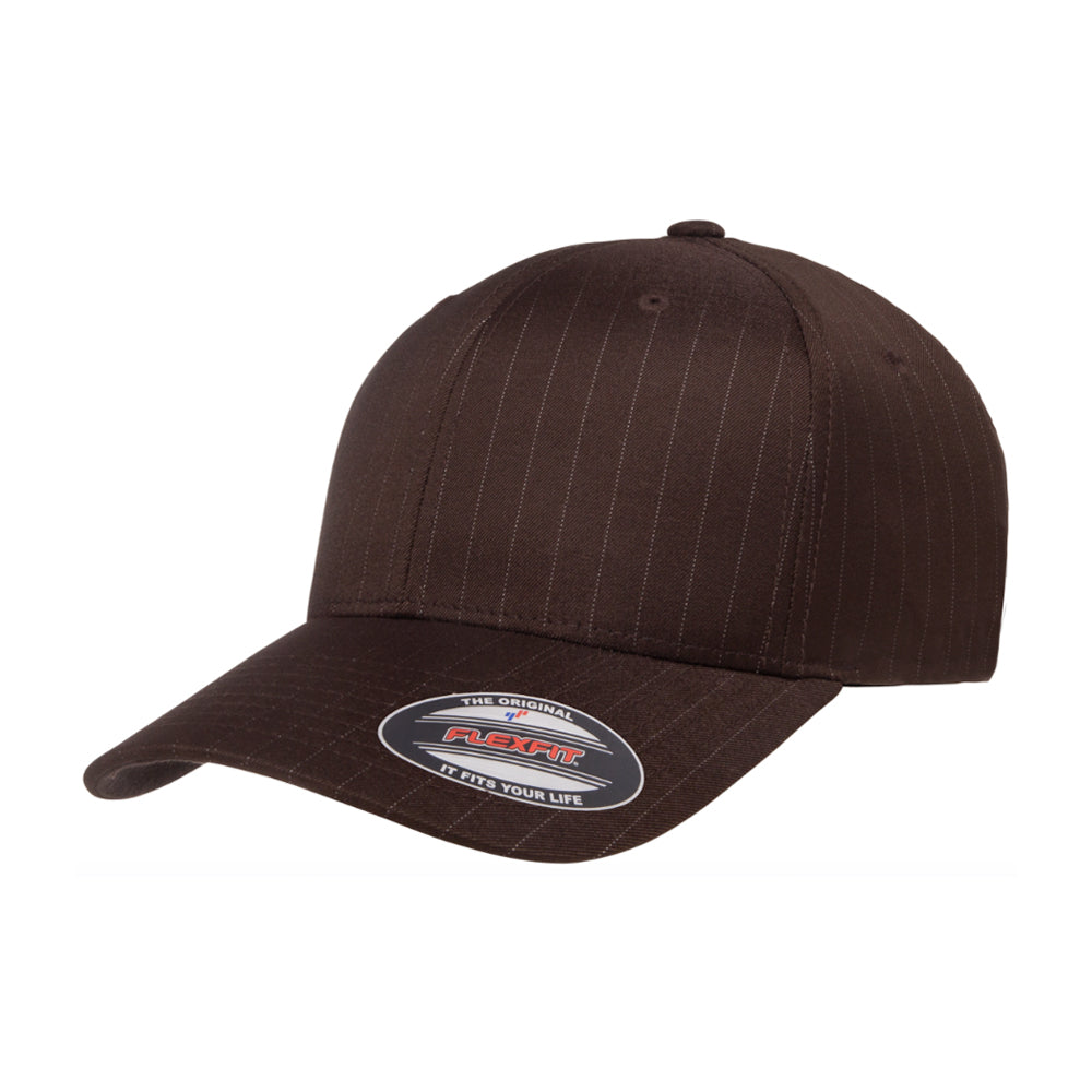 Flexfit Baseball Pinstripe Flexfit 6195P Brown Brun
