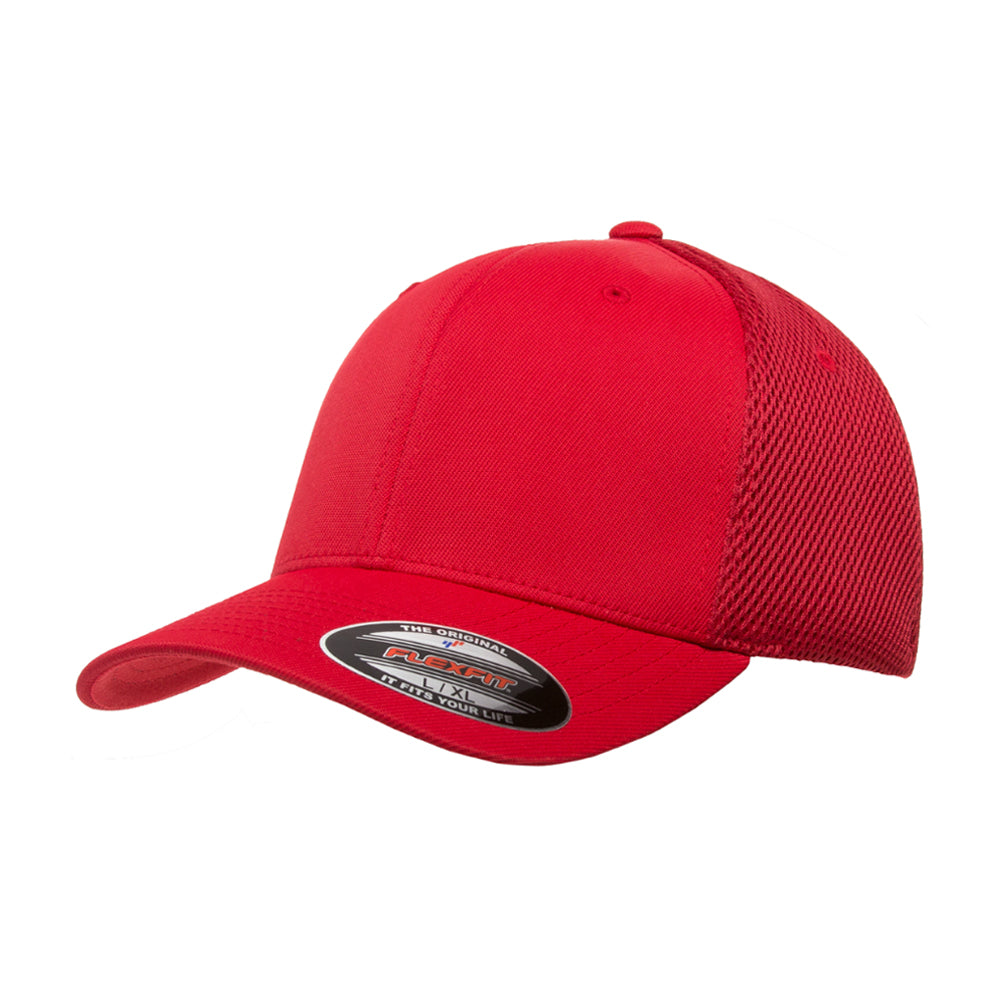 Flexfit Baseball Tactel Mesh Flexfit 6533 Red Rød
