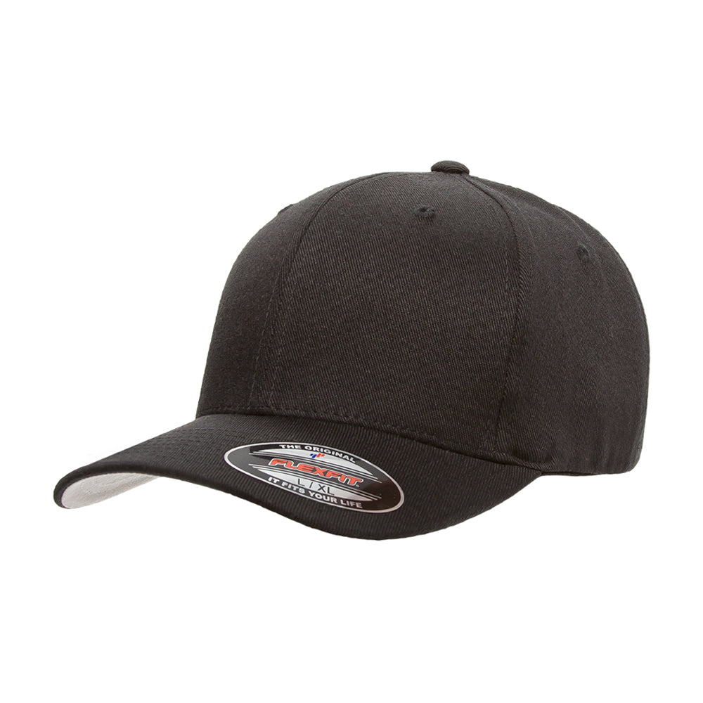 Flexfit Baseball Wool Flexfit 6477 Black Sort