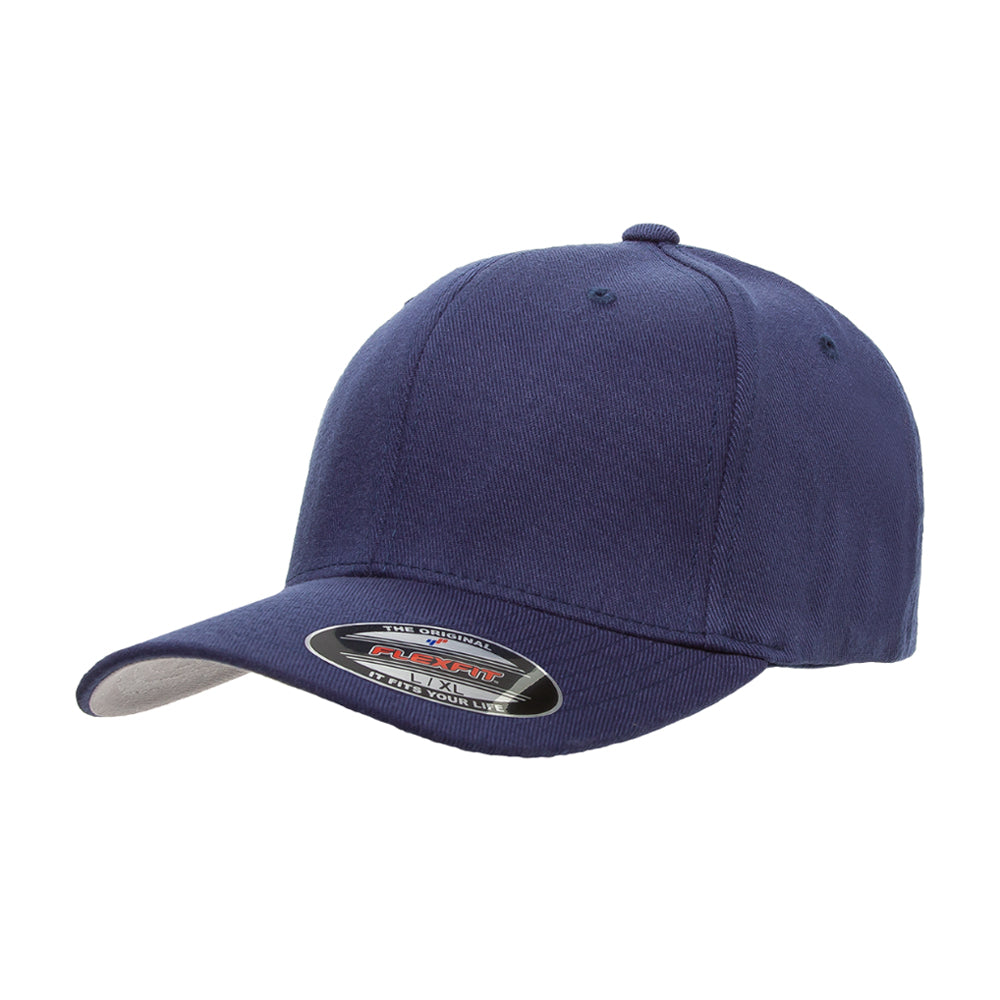 Flexfit Baseball Wool Flexfit 6477 Navy Blå