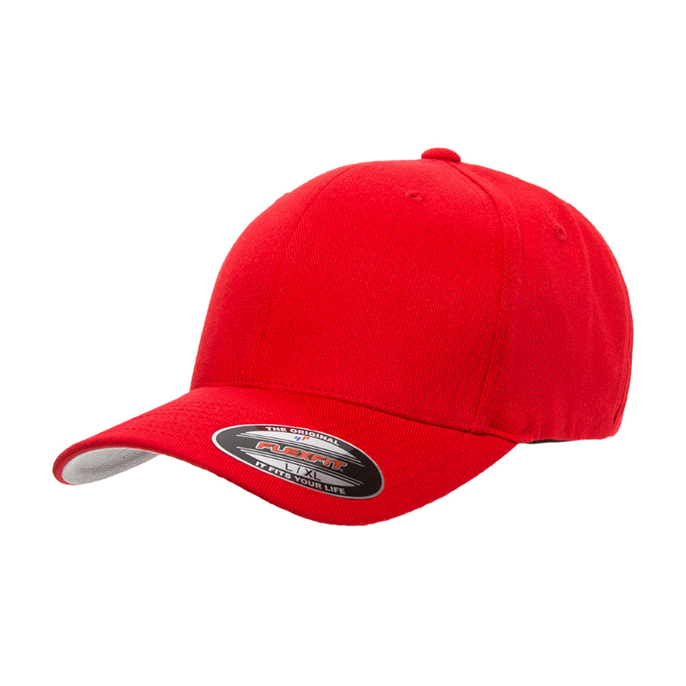Flexfit Baseball Wool Flexfit 6477 Red Rød