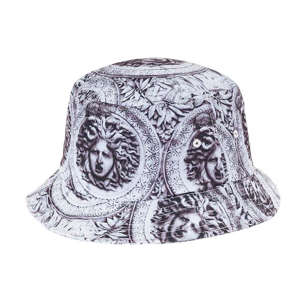Flexfit Bucket Hat 5003 Black White Sun King Sort Hvid