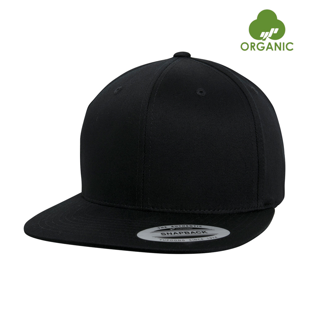 Flexfit Classic OC Organic Cotton Snapback Black Sort BB 6089OC-BLK