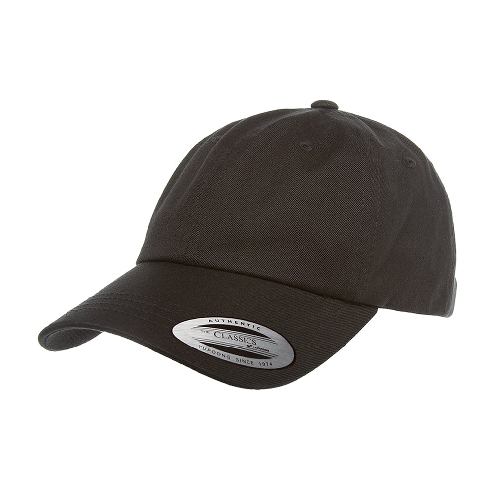Flexfit Yupoong Dad Cap Justerbar 6245CM Black Sort