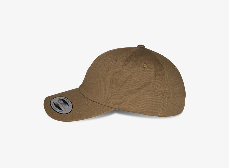 Flexfit Yupoong Dad Cap Justerbar 6245CM Tan Brown Brun