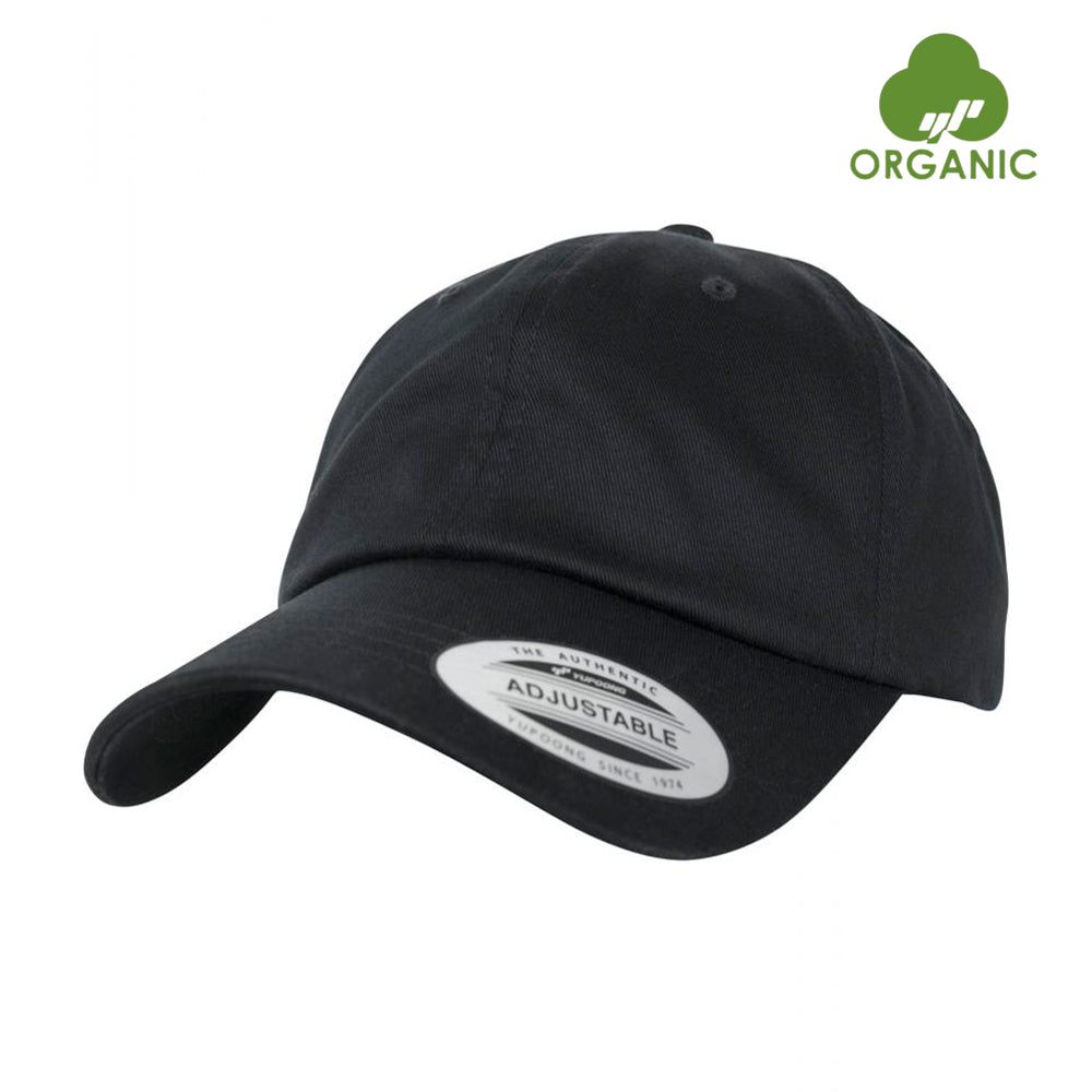 Flexfit Dad Cap OC Organic Cotton Adjustable Black Sort BB 6245OC-BLK