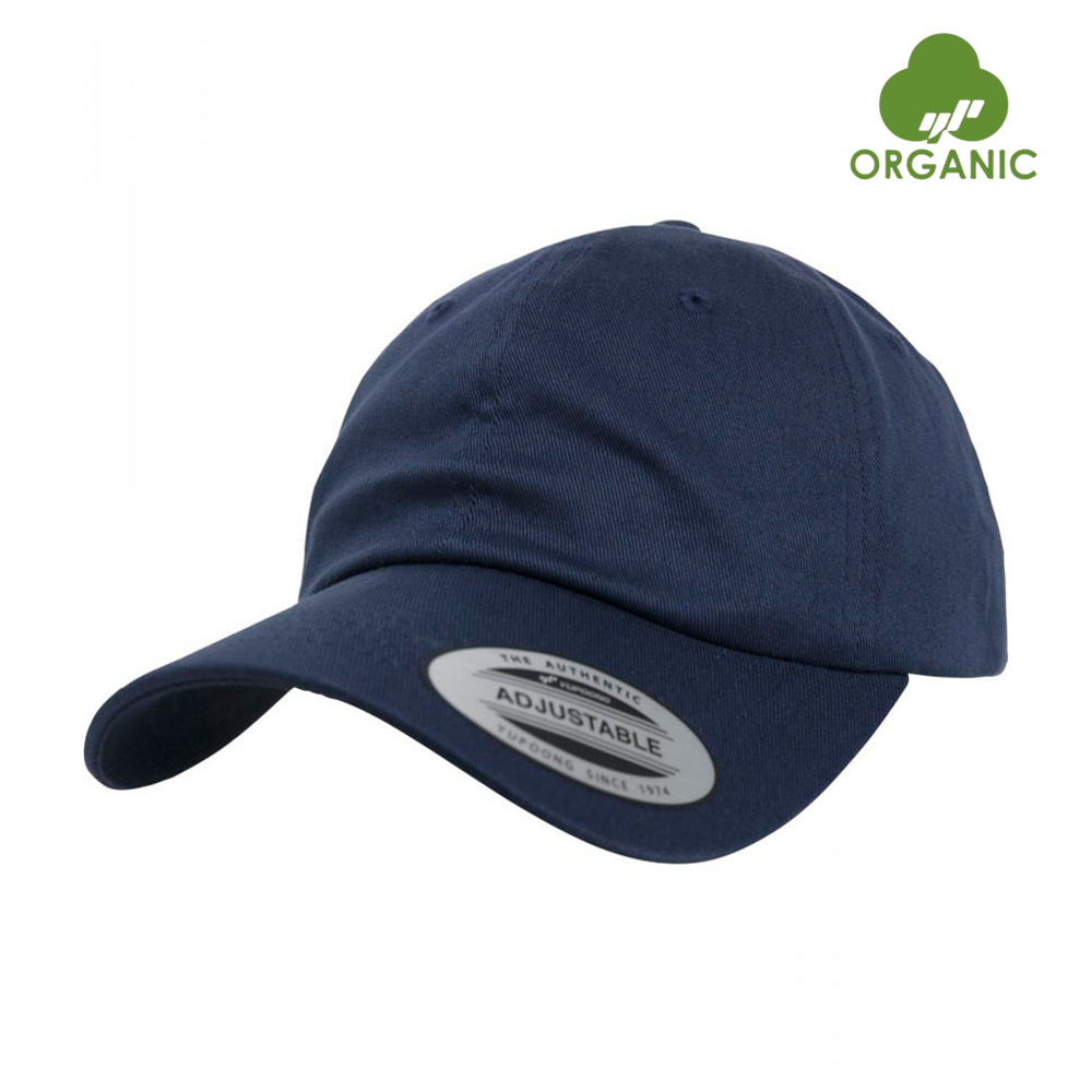 Flexfit Dad Cap OC Organic Cotton Adjustable Navy Blå BB 6245OC-NAV