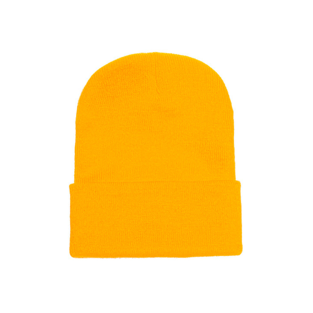 Flexfit Yupoong Fold Hue Fold Up Beanie 1501KC Gold Guld
