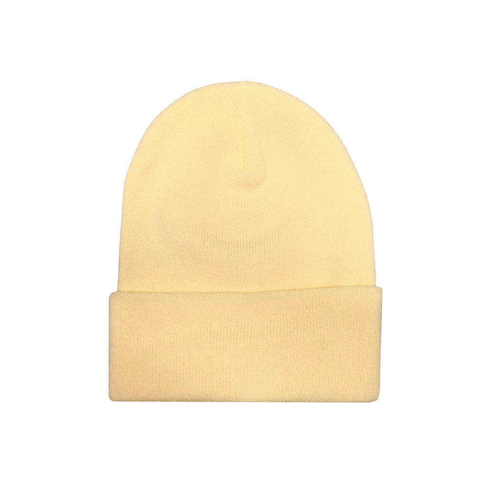 Flexfit Yupoong Fold Hue Fold Up Beanie 1501KC Powderyellow Gul Beige