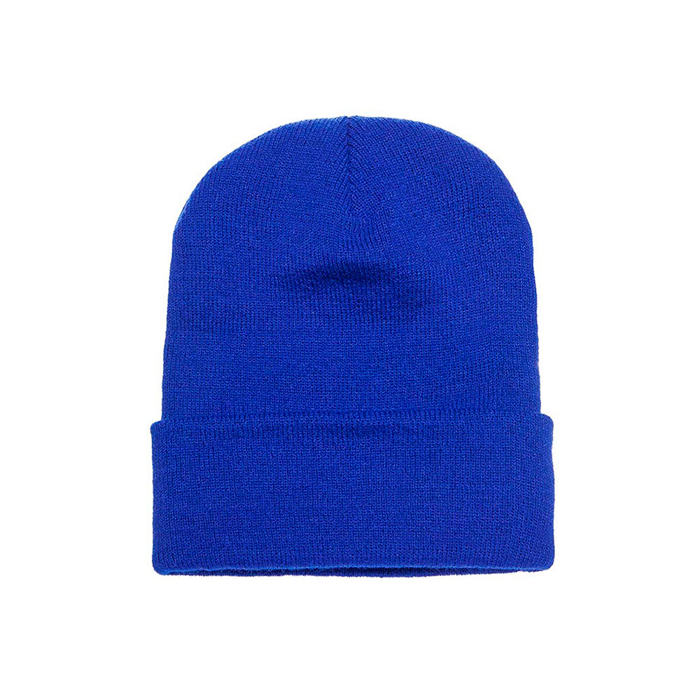 Flexfit Beanie Yupoong Royal Blue Blå Fold Hue Vinter