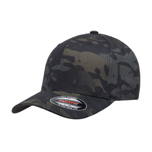 Flexfit Multicam Baseball Flexfit 6277MC Black Camo Sort