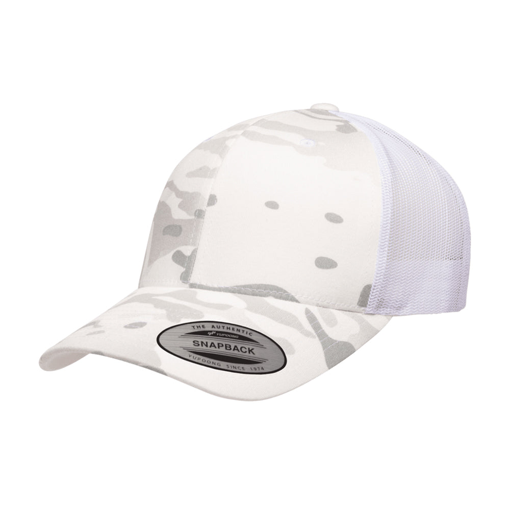 Flexfit Multicam Trucker Snapback 6606MC Camo Alpine White Hvid