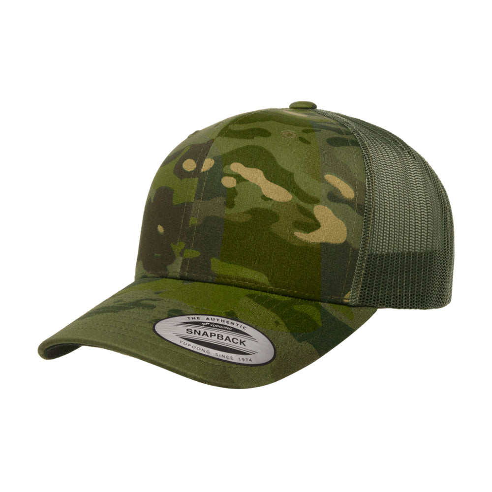 Flexfit Multicam Trucker Snapback 6606MC Camo Tropic Grøn