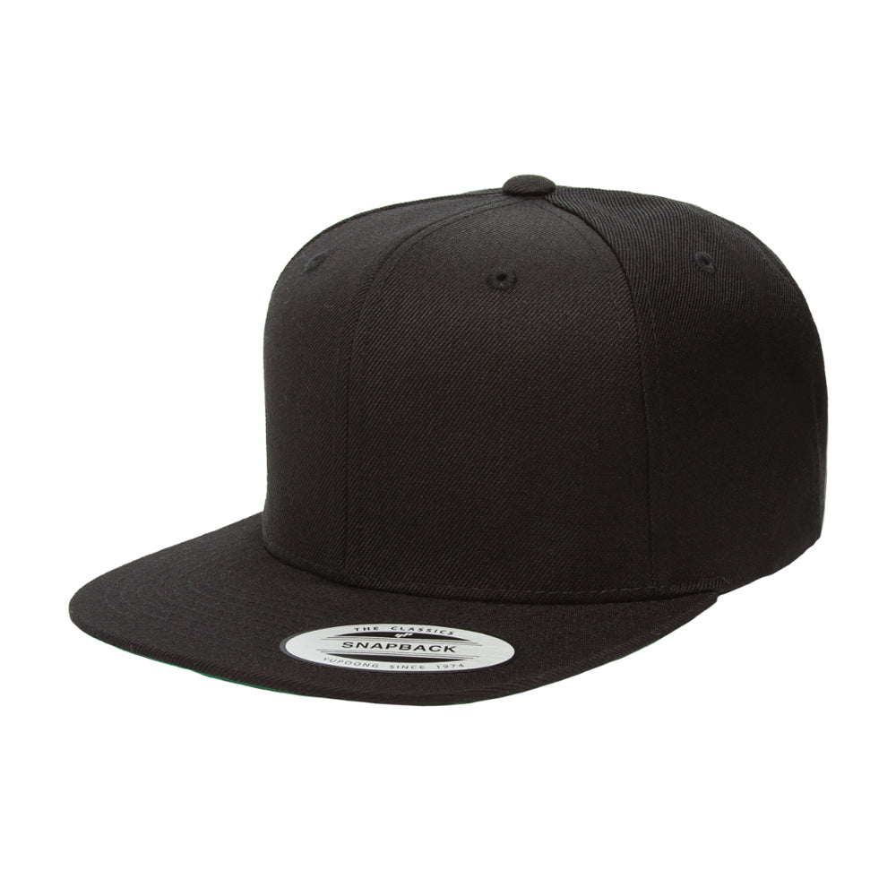 Flexfit Yupoong 6-12 Years Snapback 6089MK Kids Børn Black Sort