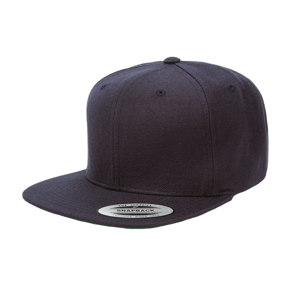 Flexfit Yupoong 6-12 Years Snapback 6089MK Kids Børn Dark Navy Blå